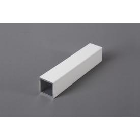 Труба квадратная пустотелая алюминиеваябелая 20х20 мм для мебельных конструкций 5,95 м