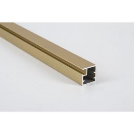Фасадный рамочный профиль алюминиевый М1N золото для изготовления мебельных фасадов