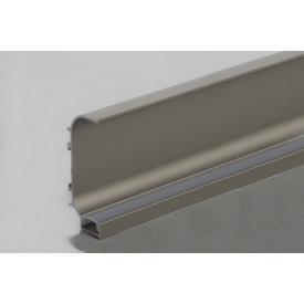 Профиль C образный для фасадов без ручек (ФБР) с пазом под LED-подсветку 5950 мм коньяк