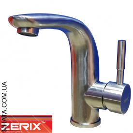 Змішувач для умивальника Zerix LR71205 нержавійка