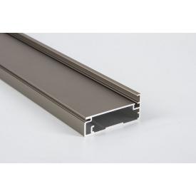 Алюминиевый рамочный профиль для мебельных фасадов М23 5,95 м коньяк