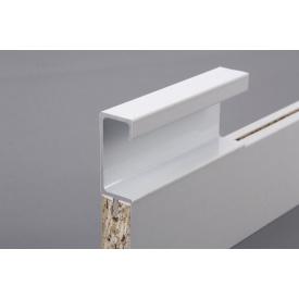 Меблева ручка профільна врізна Н 3 для ДСП 18 мм 5,95 м білий