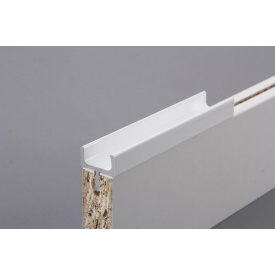 Меблева ручка профільна врізна Н 1 для ДСП 18 мм 5,95 м білий