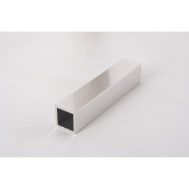 Труба квадратная пустотелая алюминиевая анодированная 20х20 мм алюминийполированный для мебельных конструкций 5,95 м