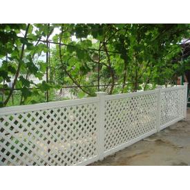 Пластиковый забор с решёткой ТМ Казачка 1.2х2м
