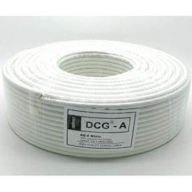 TV кабель 75 Ом DCG RG-6 white 100 м