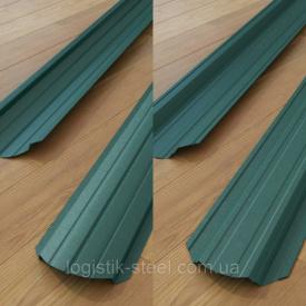 Штакетник двухсторонний 0,45 мм зеленый (RAL 6005) (Китай)
