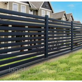 Забор Ранчо 130/100 мм горизонтальный металлический одностороннее заполнение