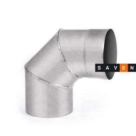 Колено для дымохода с нержавеющей стали одностенное 90°, 160, 1 мм, AISI 321