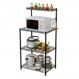 Кухонный стеллаж полка для микроволновки, посуды и аксессуаров (5863)