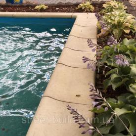 Крышка для бассейна Классическая Золотой Мандарин Радиусный 490x315x60