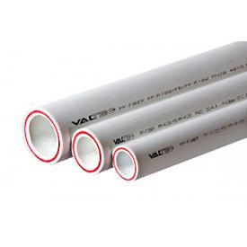 Труба полипропиленовая VALTEC армированная стекловолокном PP-FIBER PN 20 20 мм белый VTp.700.FB20.20