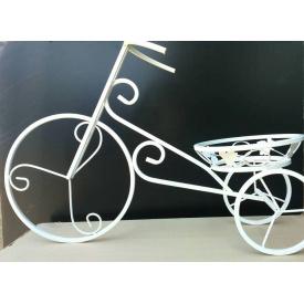 Подставка для цветов FlowerStand Велосипед 1 белый