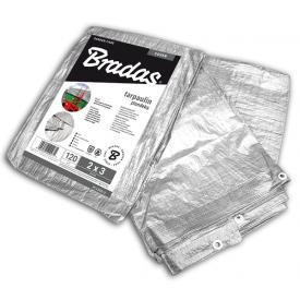 Посилений тент Bradas тарпаулін SILVER PL1202/3 120 гр/м2 2x3 м