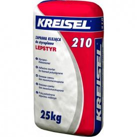 Клей для плит з пінополістиролу Kreisel 210 зимовий 25 кг