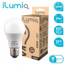 Светодиодная лампа ilumia 010 L-10-MO-E27-NW-12 1000Лм 10Вт 12В 4000К