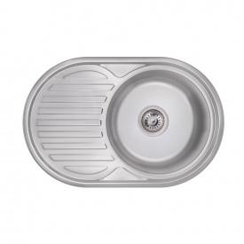 Кухонная мойка Lidz 7750 0,6 мм Polish (LIDZ775006POL)