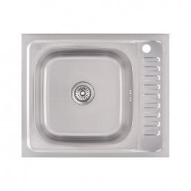 Кухонная мойка Lidz 6050-L 0,6 мм Decor (LIDZ6050L06DEC)