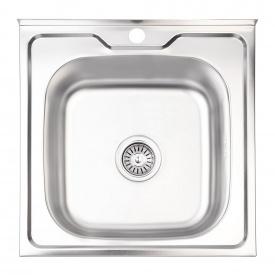 Кухонная мойка Lidz 5050 0,8 мм Satin (LIDZ5050SAT8)