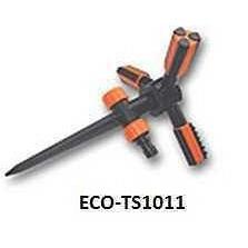 ECO-TS1011 Ороситель вращающийся трехрожковый на пластиковом колышке TRIO