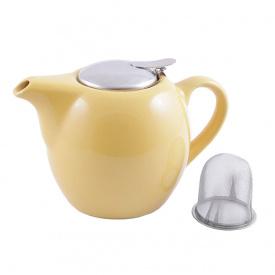 Чайник заварювальний з ситечком Fissman 750 мл жовтий