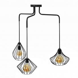 Люстра подвесная в стиле лофт на три плафона MSK Electric NL 1283022-3