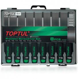 Набор отверток для точных работ TOPTUL (T5-T20) 8ед. GAAW0801
