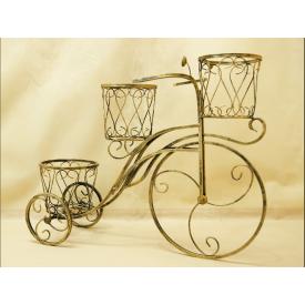 Подставка для цветов Холодная ковка Велосипед 3 средний