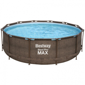 Каркасный бассейн Bestway Ротанг 56709 (366х100 см) с картриджным фильтром и лестницей