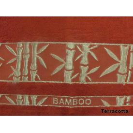 Простирадло Arya в сумці Бамбук Жаккард 200x220 см Elanor теракотова