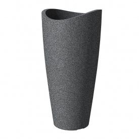 Кашпо для цветов Scheurich Wave Globe Slim пластик 80 гранитно-черный