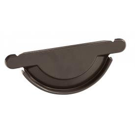 Заглушка желоба универсальная с уплотнителем Bilka 125 мм темно-коричневая RAL 8019