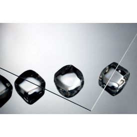 Лист гладкий прозрачный полистирол ТОМО design 2,5x500x500 мм