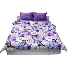 Комплект постельного белья Руно сатин 1314 Violet евро