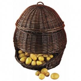 Кошик Natural House для зберігання овочів і фруктів темний малий