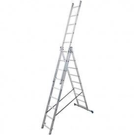 Лестница трехсекционная расскладная VIRASTAR TRIOMAX алюминиевая 3x9 (VTL039)