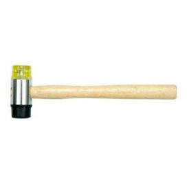 Молоток гумa-пластик VOREL с деревянной ручкой (33950)