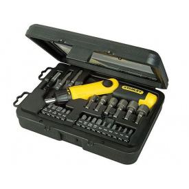 Отвертка реверсивная STANLEY Pistol Grip Ratchet трещотка, 22 насадки (0-63-022)