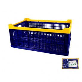 Ящик складной пластиковый MasterTool 600x400x240 мм, синий (79-3951)