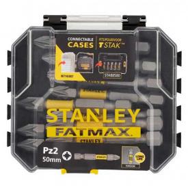 Набор бит STANLEY FatMax Pozidriv, Pz2, 50 мм, 10 шт пластиковый кейс (STA88572)
