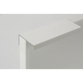 Меблева ручка профільна алюмінієва В 9 5,95 м біла