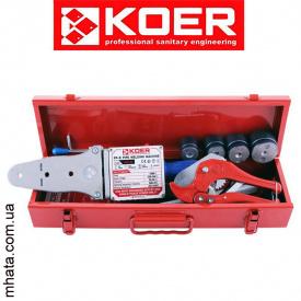 Паяльник для полипропиленовой трубы KOER SET-03S (мини) (1500Вт,4 насад,ножн)