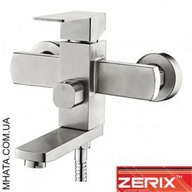 Змішувач для ванни, короткий ніс ZERIX LR73233 Euro нержавійка