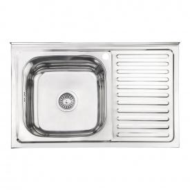 Кухонная мойка Lidz 5080-L 0,8 мм Polish (LIDZ5080LPOL08)