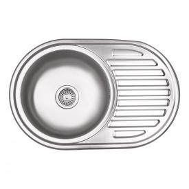Кухонная мойка Lidz 7750 0,6 мм Micro Decor (LIDZ7750DEC06)
