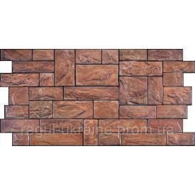 Камень ПВХ Регул Пиленый настоящий коричневый 0,4х493х977 мм