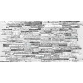 Панель ПВХ Регул Камень пластушка черно-белая 0,4х489х980мм
