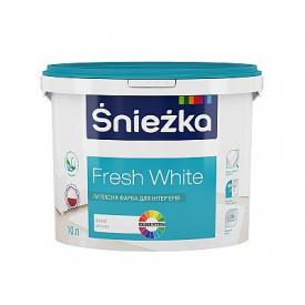 Фарба Sniezka Fresh White (10л) 14 кг.