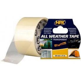 Лента HPX All Weather Tape 48 мм 5 м прозрачная блистер AT4805