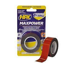 Лента двухсторонняя HPX MAXPOWER 25 мм 1,5 м черная блистер OT2502